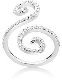 Summerrose Jewelry Summer Rose 14k White Gold 5/8ct TDW Diamond Fancy Swirl Ring