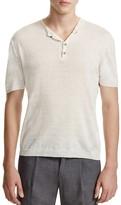 Eleventy Linen Short Sleeve Henley Sweater - 100% Bloomingdale's Exclusive