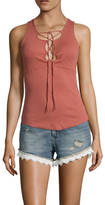 Free People Emmy Lou Lace Up Top