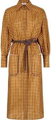 Fendi Vichy midi shirt dress