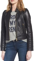 J.Crew Women's Collection Stand Collar Leather Jacket
