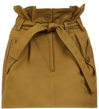 ATTICO Paperbag-waist Mini Skirt - Khaki