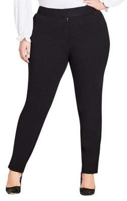 City Chic Plus Slim-Fit Simply Tailored Pants