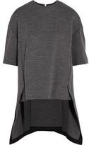 Marni Asymmetric Wool-Blend Jersey Top