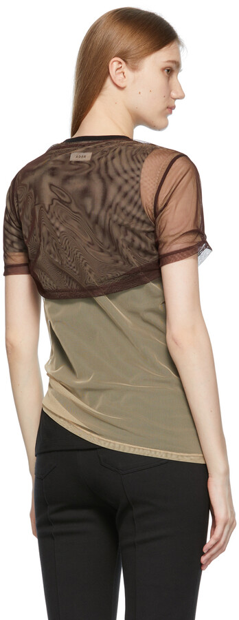 Thumbnail for your product : Ader Error Brown & Beige Overlap T-Shirt