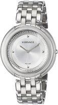 Versace Women's VA7060013 THEA stainless-steel band watch.