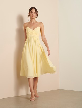 Forever New Pheobe Prom Midi Dress - Lemon - 10
