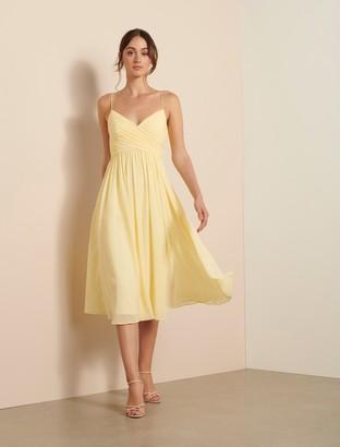 Forever New Pheobe Prom Midi Dress - Lemon - 10