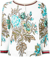 Twin-Set embellished floral cardigan - women - Cotton/Viscose - S