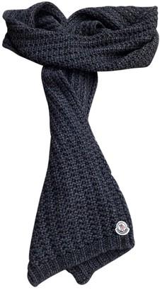 Moncler Grey Wool Scarves & pocket squares