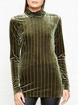 By Malene Birger Uppian Velvet Cut Out Detail Top