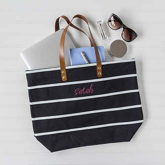Cathy's Concepts Cathys Concepts Personalized Oversized Striped Tote