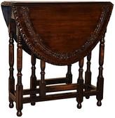 One Kings Lane Vintage 19th-C. English Carved Gateleg Table - Black Sheep Antiques