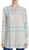 Foxcroft Exploded Glen Plaid Tunic Shirt