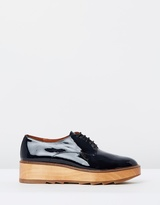 Whistles Ida Patent Lace Up Shoes