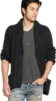 Ralph Lauren Cabled Shawl Cardigan