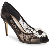 Nina Women's 'Rhodes' Crystal-Embellished Lace Pump