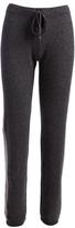 Three Dots Charcoal Stripe Alana Cashmere Lounge Pants