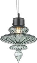 Heathfield & Co Basilica Opal Jade Brass Pendant Light