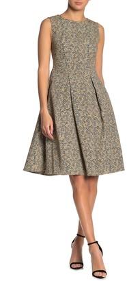 Max Studio Floral Box Pleat Dress