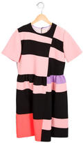 Roksanda Ilincic Colorblock Short Sleeve Dress
