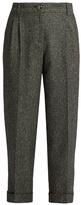 Dolce & Gabbana High-waisted herringbone-tweed cropped trousers