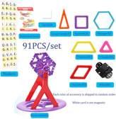 Per 91pcs Magnetic 3D DIY Building Blocks, Mini Magnet Construction Toys, Magnetic Brick Learning Techniques for Creativity Imagination Brain Development