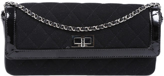 Chanel Black Quilted Patent Leather Flap Bag