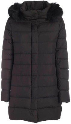 Herno Tone-on-tone Fur Down Jacket