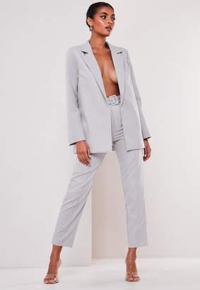 Missguided Grey Co Ord Boyfriend Blazer