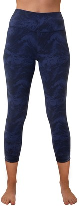 Spalding Women's High-Waisted Printed Crop Leggings