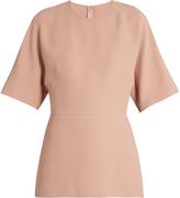 Valentino Short-sleeved silk-cady blouse