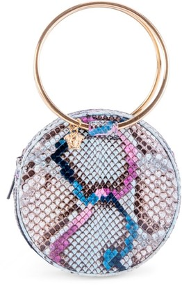 Versace Eternity Ring Python-Embossed Leather Evening Bag