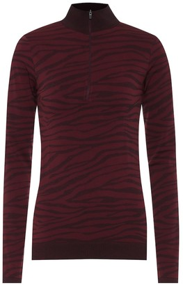 Varley Laurel animal-jacquard top