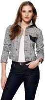 Juicy Couture Cheetah Print Denim Jacket