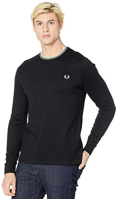 Fred Perry Twin Tipped T-Shirt (Black) Men's Clothing