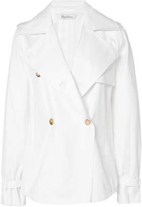 Max Mara Aminta Double-Breasted Cotton-Silk Top