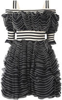 Alexander McQueen ruffle mini dress - women - Silk/Polyamide/Polyester/Viscose - 44