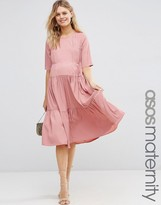 Asos Skater Dress with Pleat Front