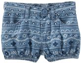 Osh Kosh Baby Girl Bandana-Print Chambray Bubble Shorts