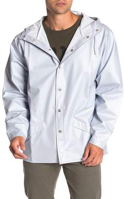 Rains Waterproof Long Hooded Jacket