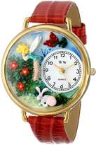 Whimsical Watches Women's G1210010 Garden Fairy Red Leather Watch