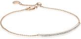 Monica Vinader Skinny Diamond Long Bar Bracelet