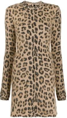Unravel Project leopard print mini dress