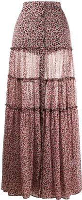Wandering Floral Print Maxi Skirt