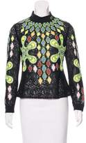Peter Pilotto Embroidered Mesh Top