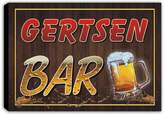 AdvPro Canvas scw3-087100 GERTSEN Name Home Bar Pub Beer Mugs Cheers Stretched Canvas Print Sign