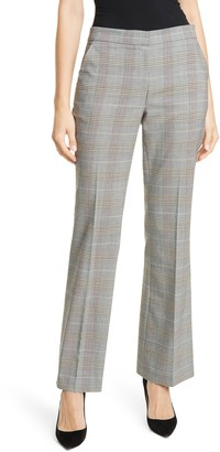 Lewit Plaid Bootcut Trousers