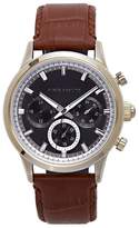 Vince Camuto Triple-subdial Croc-embossed Watch