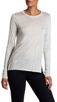 Theory Crew Neck Long Sleeve Solid Tee